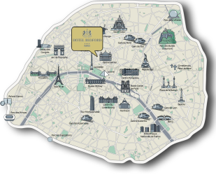 Location Access Maps Hotel Bedford Paris Luxury Hotel Paris 8
