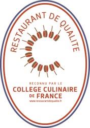 Certification qualité College Culinaire de France Restaurant le Victoria